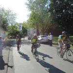 Die 8 Radfahrer aus Gémenos kommen an